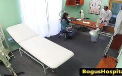 Busty cfnm doctor pussypounded in threeway 4